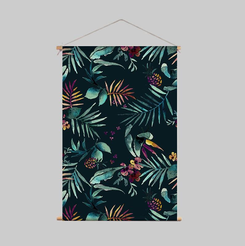 Textile Poster - DARK TROPIC