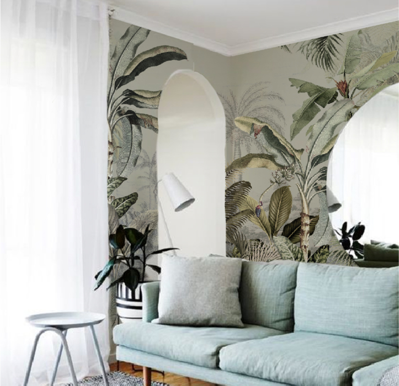 Jungle Behang - Wandgrote afbeelding - DREAMY JUNGLE GREEN