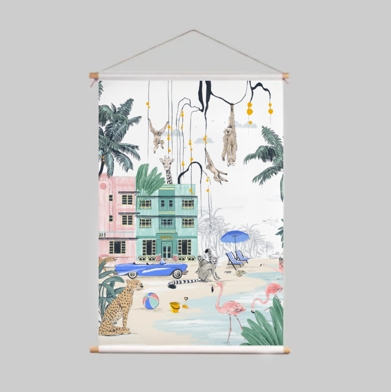 Textielposter - MIAMI BEACH