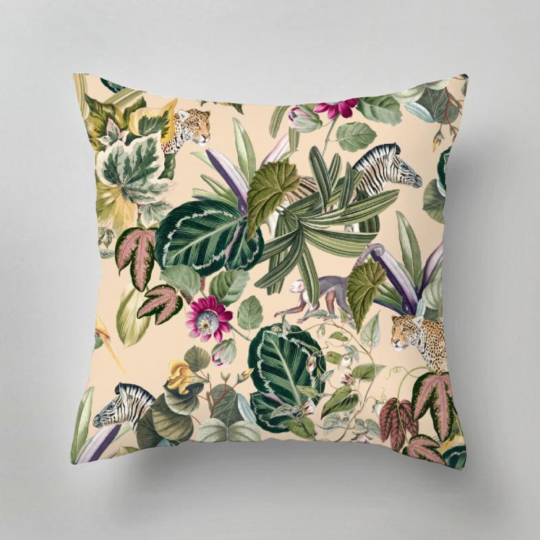 Outdoor pillow - BOLD BOTANICS light