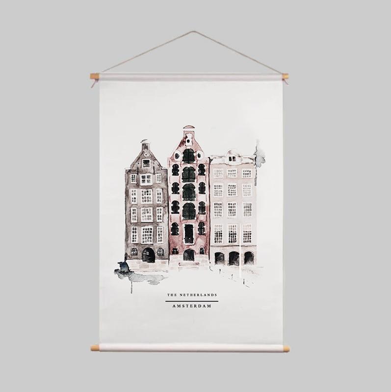 Textile Poster - AMSTERDAM
