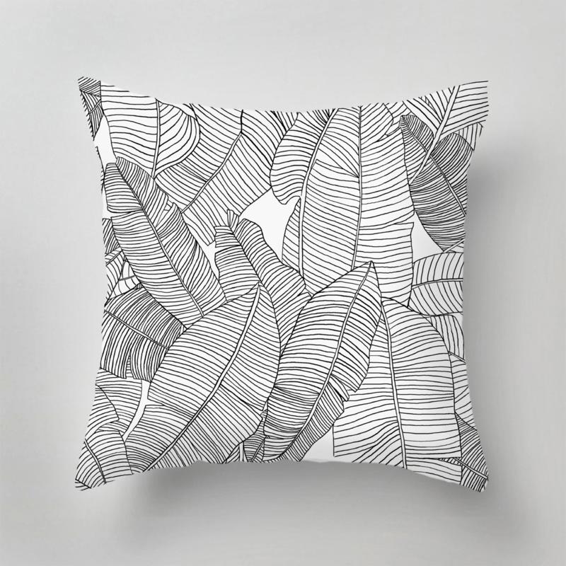 Kussen - BARBADOS zwart/wit