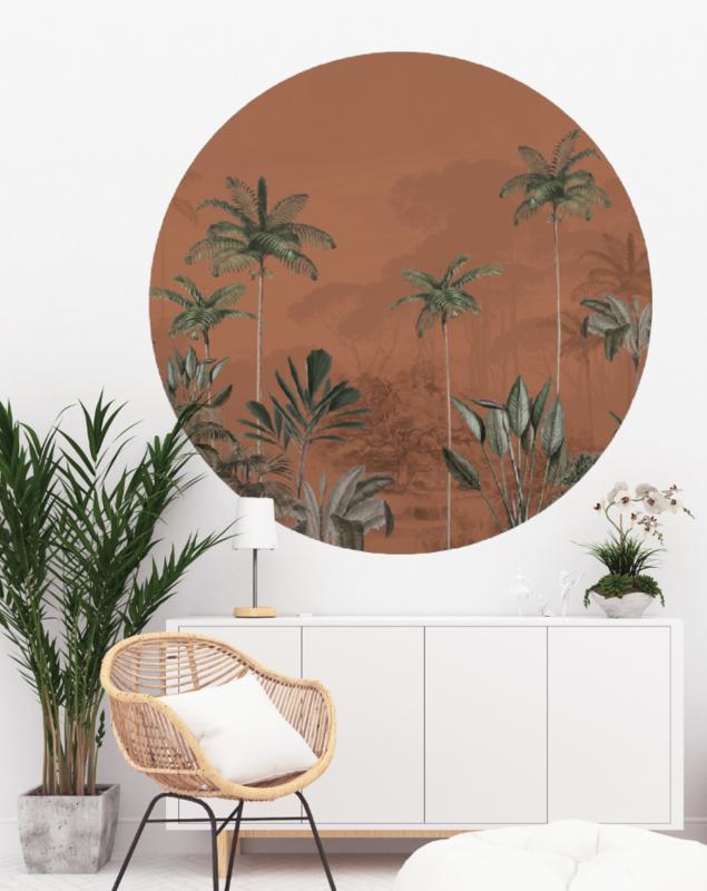 Round wall sticker - Tropical Wilderness ginger