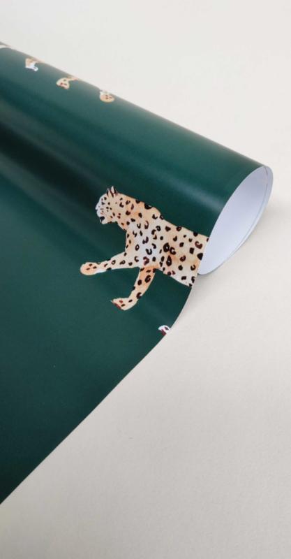 Giftwrap - Leopard Green