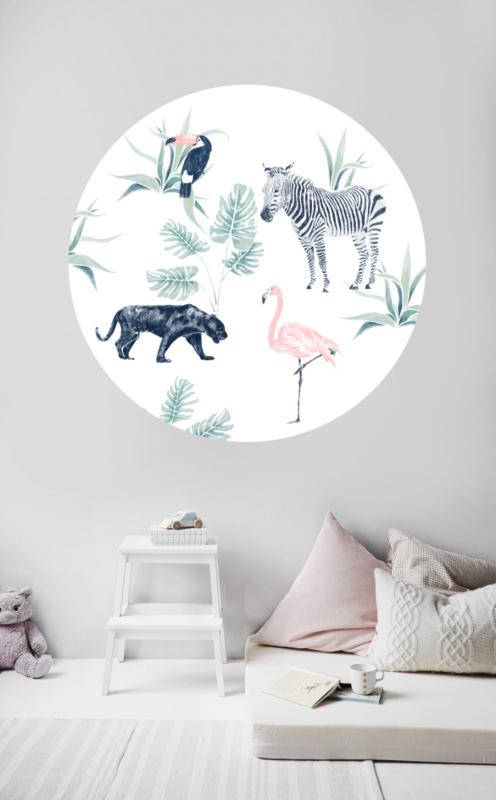Ronde jungle wandsticker - Chiq Safari