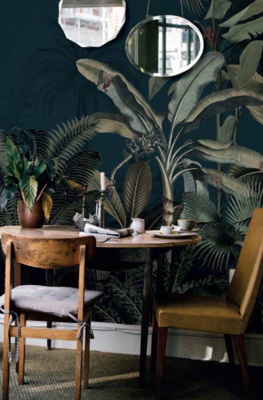 Jungle Behang - Wandgrote afbeelding - DREAMY JUNGLE DARK