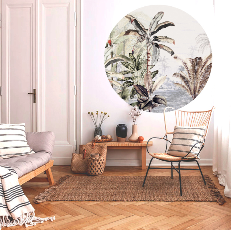 Ronde wandsticker - Dreamy Jungle Soft