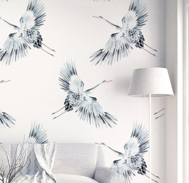 Vogel Behang - CRANES