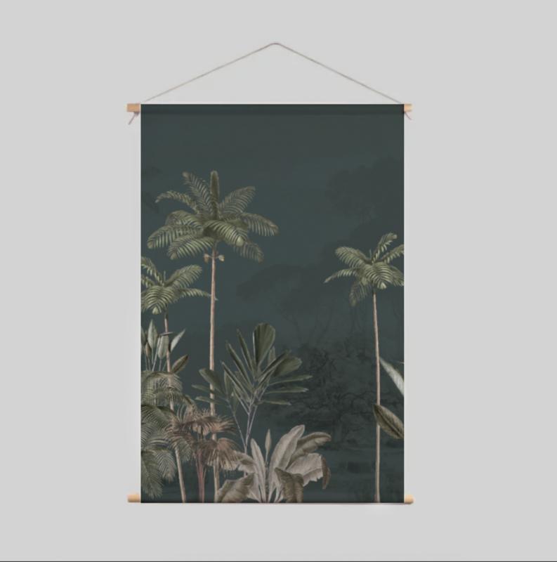 Textile Poster - Tropical Wilderness Dark