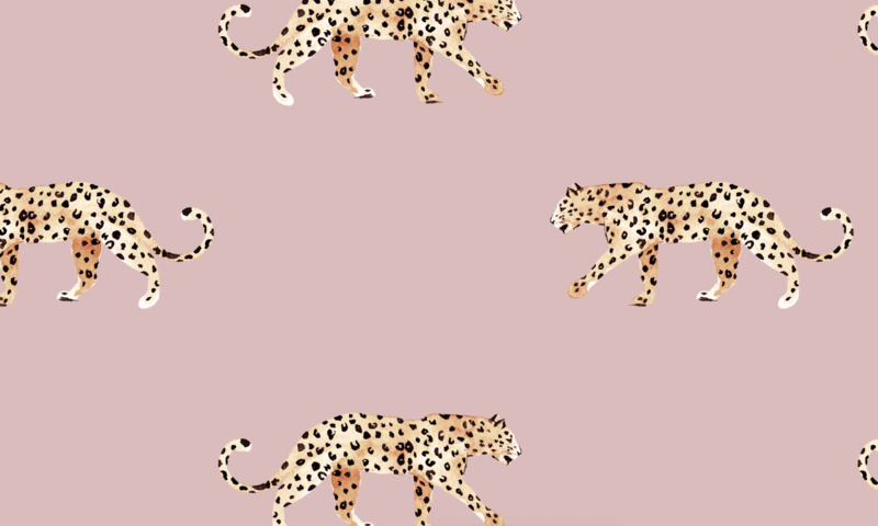 Luipaard Behang - LEOPARD DUSTY PINK