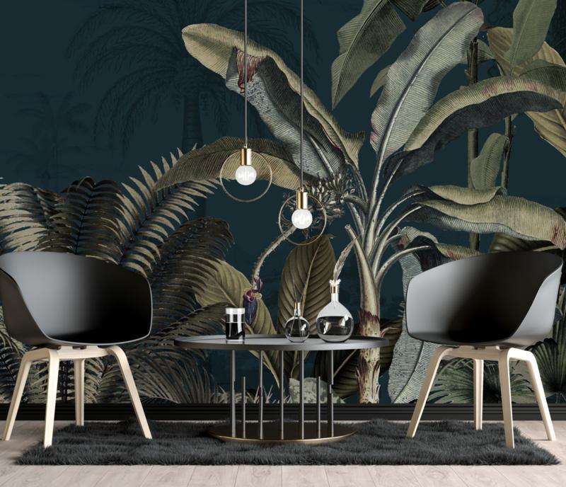 Wallpaper - Full wall sized image - DREAMY JUNGLE DARK