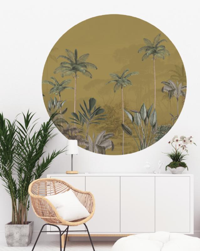 Round wall sticker - Tropical Wilderness ochre