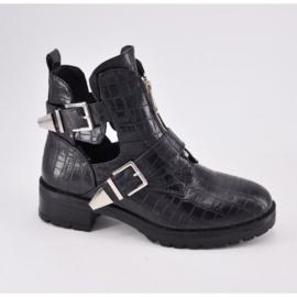 Queen croco enkel laarzen