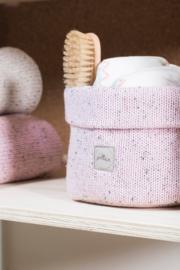 Jollein Mandje Confetti knit vintage pink