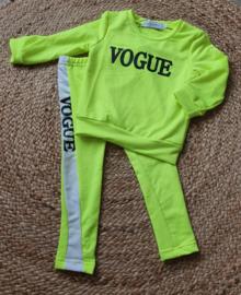 vogue setje - Yellow/Green