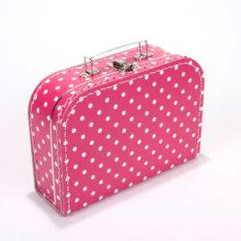 Kinderkoffertje FUCHSIA ROZE 25cm