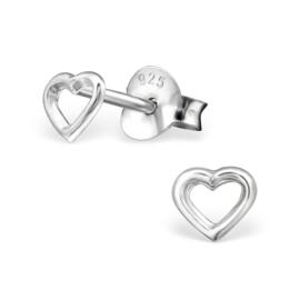 Zilveren kinderoobrellen heart