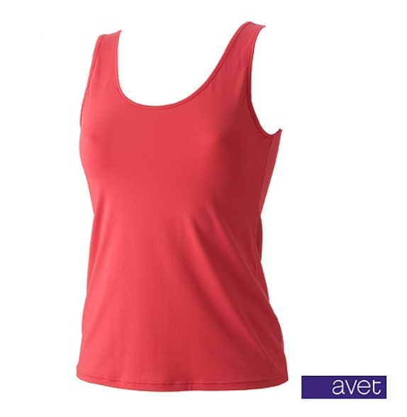 Avet top brede band Rood