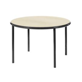 Wooden table round black - Muller Van Severen / Valerie Objects