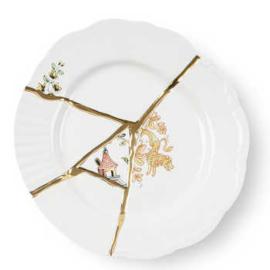 Kintsugi servies - Dessertbord (no.2) 21 cm - Seletti