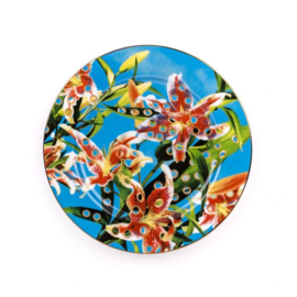 Seletti wears Toiletpaper Plate: Flowers with holes -  bord met print