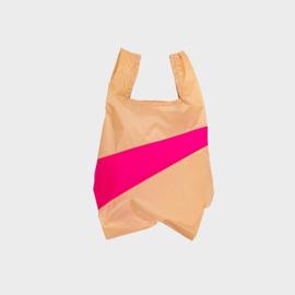 Shoppingbag M 'peach & pretty pink' - Susan Bijl