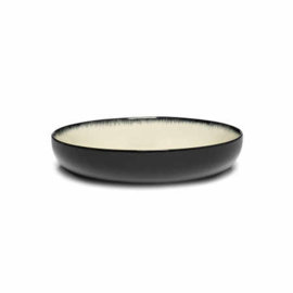 Servies Dé - Diep bord 18,5 cm Off-White/Black var D - Ann Demeulemeester Serax
