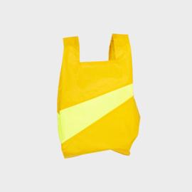 Shoppingbag M 'helio & fluo yellow' - Susan Bijl