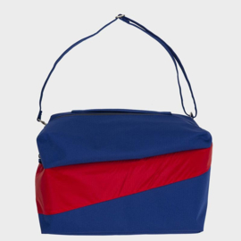 The 24/7 Bag weekendtas 'electric blue & redlight' - Susan Bijl
