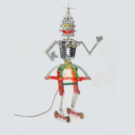 Lamp van Meccano 'Robot Danseres' - Oom Jan