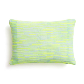 Kussen 'Malabar' N°3 Turquoise Yellow - Roos Soetekouw