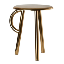 Stool cow handle, gouden kruk of bijzettafel - Pols Potten