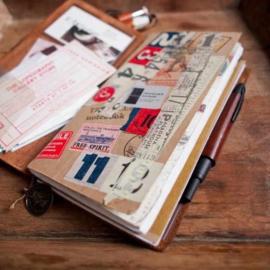 Organizer / agenda Traveler's Notebook (zwart) - Traveler's Company