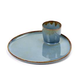 Ontbijtbord met eierdop Smokey Blue - Serax / Anita Le Grelle