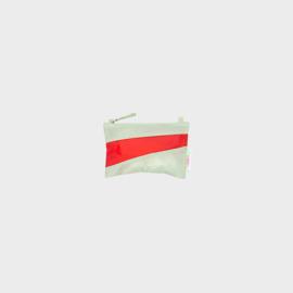 The New Pouch S 'pistachio & redlight' - Susan Bijl