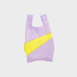 Shoppingbag M 'idea & fluo yellow' - Susan Bijl