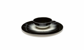 Servies Dé - Bordje 17,5 cm Off-White/Black var 5 - Ann Demeulemeester Serax