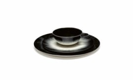 Servies Dé - Bordje 17,5 cm Off-White/Black var 1 - Ann Demeulemeester Serax