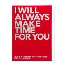 2022 Agenda / Diary A5 Make Time Red - Mark's Inc.