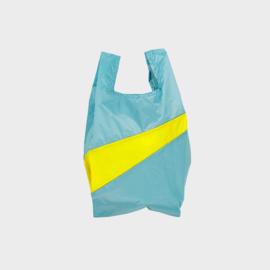 Shoppingbag M 'concept & fluo yellow' - Susan Bijl