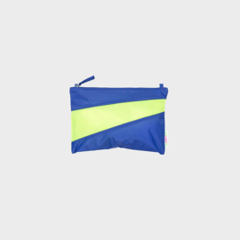 The New Pouch M 'electric blue & fluo yellow' - Susan Bijl