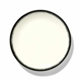 Servies Dé - Bord 24 cm Off-White/Black var 3 - Ann Demeulemeester Serax