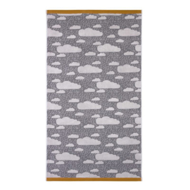 Badhanddoek   'Bath towel Rainy Day'- Grey - Donna Wilson
