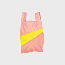 Shoppingbag M 'try & fluo yellow' - Susan Bijl