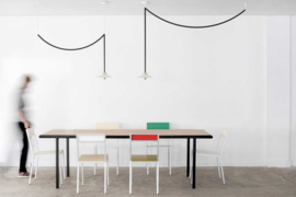 Wooden table rectangular ivory - Muller Van Severen / Valerie Objects