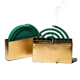 Messing anti muggen spiraal houder - Puebco