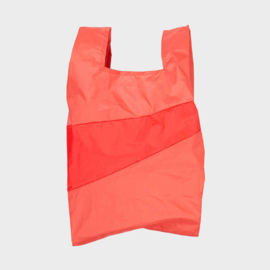 Shoppingbag L 'salmon & red alert' - Susan Bijl