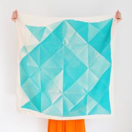 Furoshiki 90 x 90 cm 'Folded Paper' Green - Link