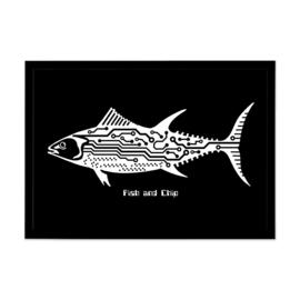 Grafische poster 'Fish and Chip' - De Beeldvink