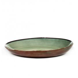 Serveerschaal 35,5 cm Smokey Blue & Rust - Serax / Anita Le Grelle